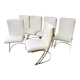 Pierre Cardin Vintage Brass Dining Chairs - Set of 6