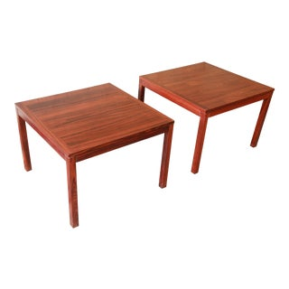Henning Kjærnulf for Vejle Stole Danish Modern Rosewood Side Tables - a Pair