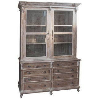 Farmhouse Country Chic Style Linen Press Cabinet
