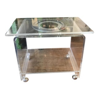 Vintage Lucite Swivel TV Stand