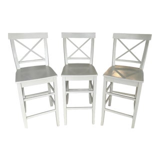 English Farmhouse Bar Stools - Set of 3