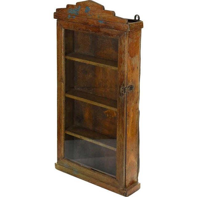 Rustic Solid Wood Showcase Wall Cabinet - Image 2 of 4