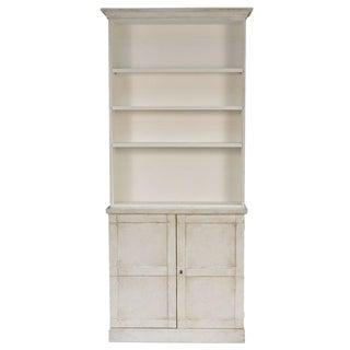 Sarreid LTD Stucco White Shelf & Hutch