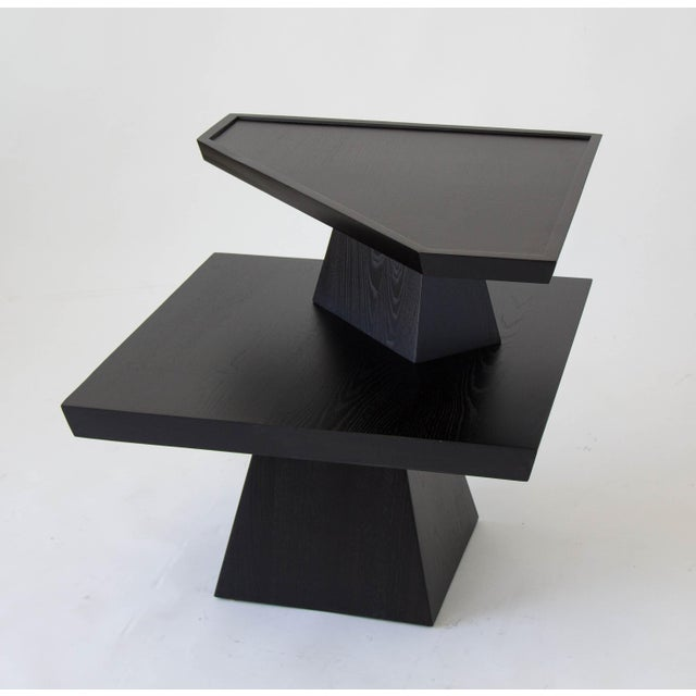 Brutalist Two-Tiered End Table - Image 4 of 11