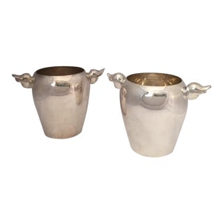 Vintage Parisian French Art Deco Style Ice Buckets - A Pair