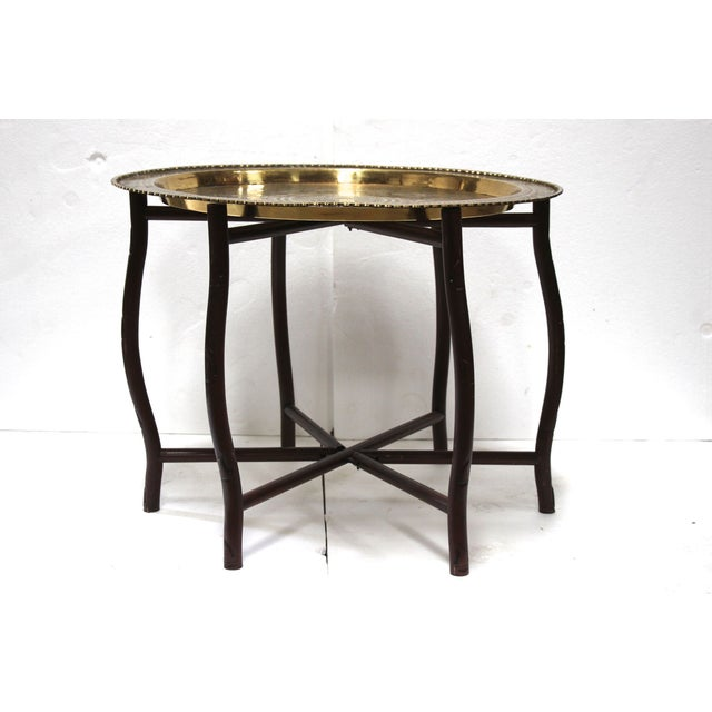 Coffee Table With Tray Top: Brass Tray Top Cocktail Table