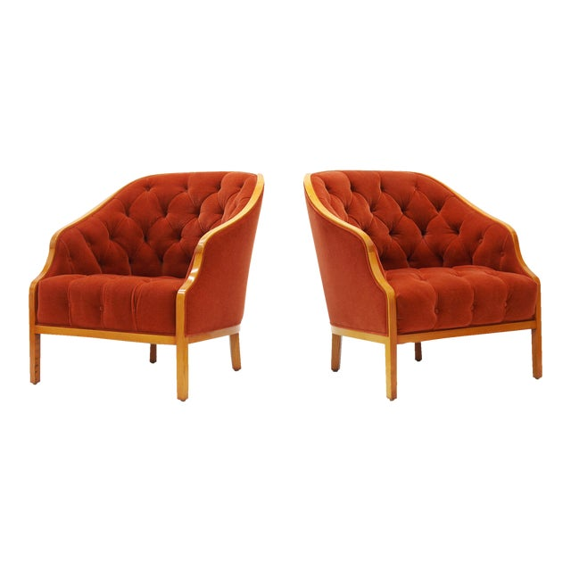 Image of Pair of Ward Bennett Club Chairs for Brickel Associates