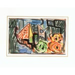 Image of Vintage Abstract Watercolor Painting