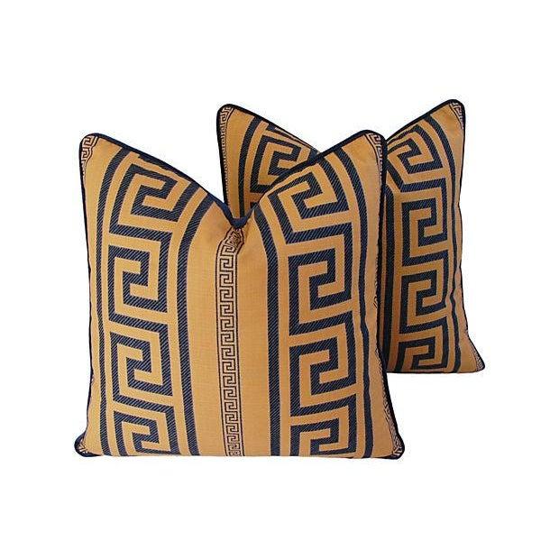 Designer Pierre Frey Greek Key Pillows - A Pair - Image 7 of 11