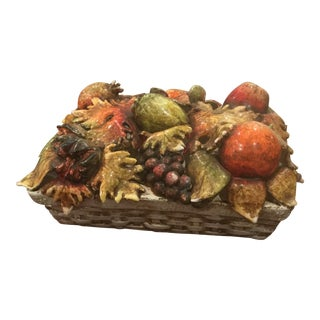 Orvieto Giacomini Ceramic Fruit Basket Centerpiece