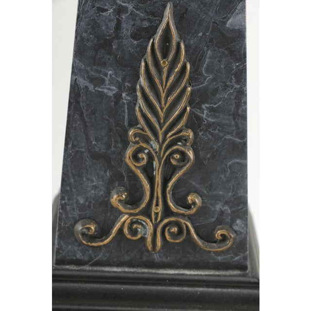 Neoclassical Faux Marble Obelisks- A Pair - Image 6 of 10