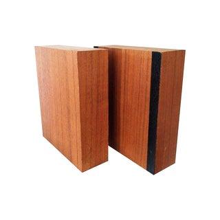 Modern Walnut Laminate Bookends - Pair