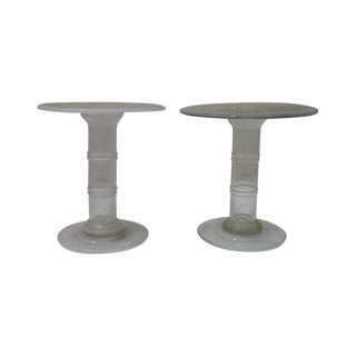 Murano All Glass Occasional Tables - A Pair
