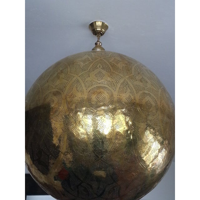 Handcrafted Moroccan Lantern Chandelier - Image 2 of 2