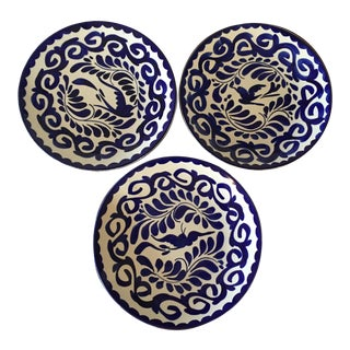 Hand Painted Mexican Plates - Set of 3