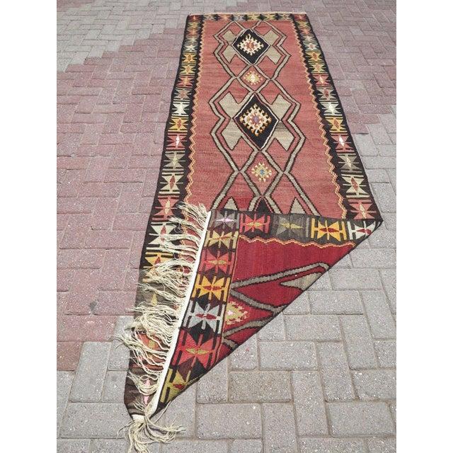 Vintage Turkish Kilim Runner Rug - Image 10 of 10