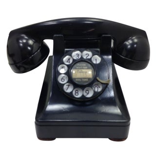 Black WE Model 302 Telephone 1938 Metal Base
