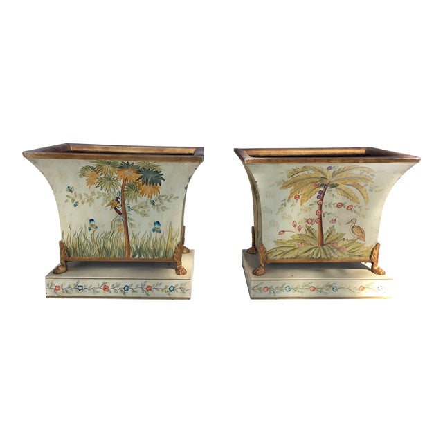 Image of Metal Plant Holders - A Pair