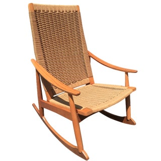 Hans Wegner-Style Mid-Century Rocking Chair
