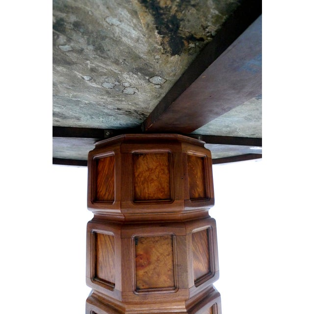 Widdicomb Mid-Century Green Marble Center Table - Image 6 of 7