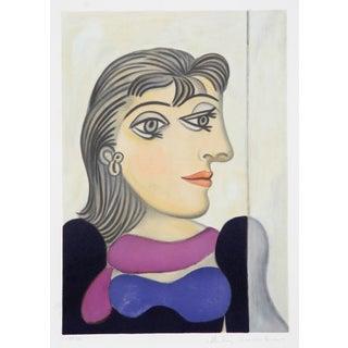 Pablo Picasso 'Femme Au Foulard Mauve' Lithograph