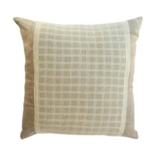 Lotus and Silk Scarf Pillow