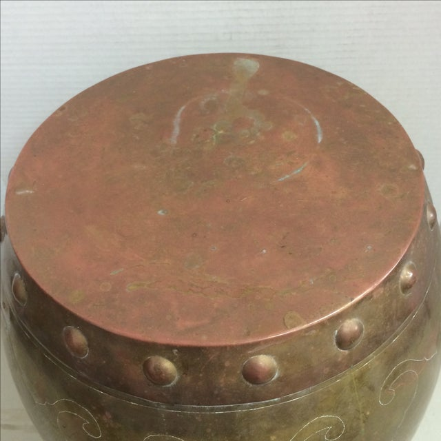Vintage Asian Brass Garden Stool - Image 3 of 7