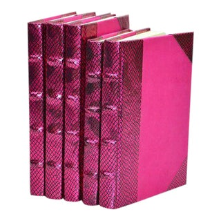 Metallic Collection Azalea Pink Books - Set of 5