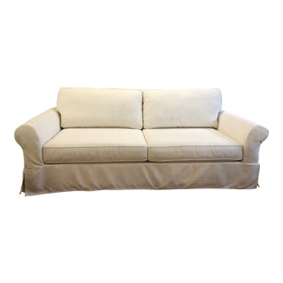 Pottery Barn Comfort Grand Roll Slipcovered Sofa