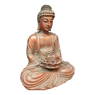 Seated Buddha Plaster Figure