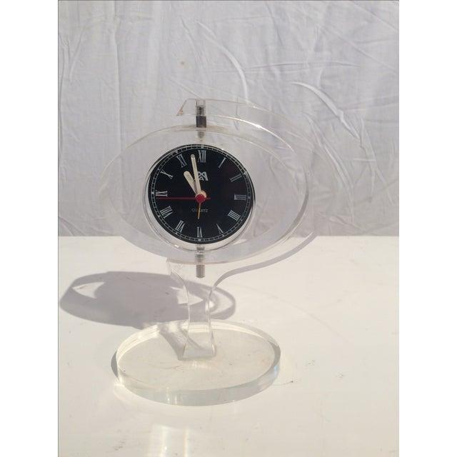Mid-Century Modern Jetsons Lucite Alarm Clock - Image 2 of 4