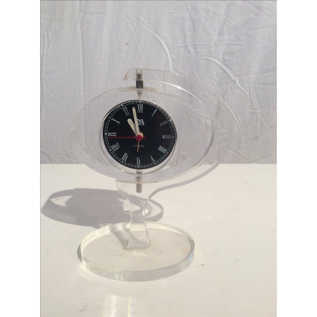 Image of Mid-Century Modern Jetsons Lucite Alarm Clock
