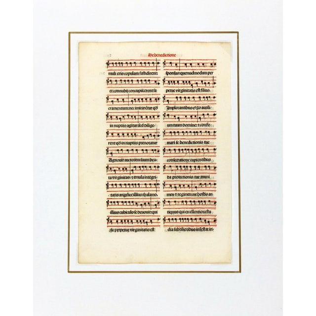 Antique Music Sheet, Printed in 1525 - Image 2 of 4