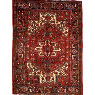 """Pasargad N Y Persian Heriz Hand-Knotted Rug - 4'10"""" X 6' 6"""""""