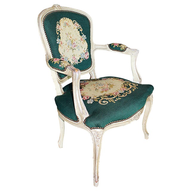 French Louis Xv Style Fauteuil Chairish