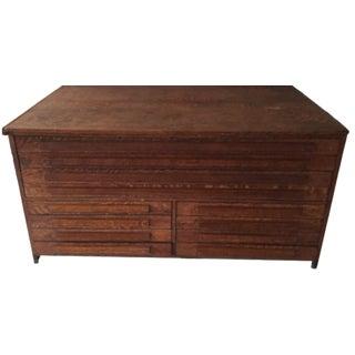 Antique Map Cabinet