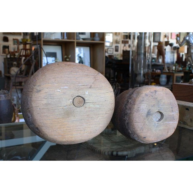 Primitive Wood Pestles - a Pair - Image 6 of 6