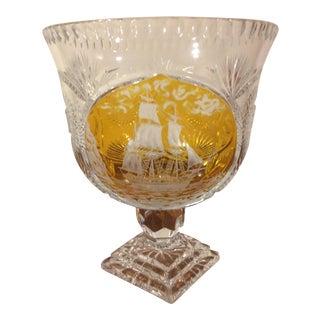 Bohemian Crystal Footed Bowl