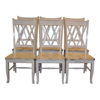 White Dining Chairs - Set of 6
