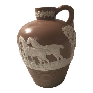 Drabware Jug With Hunt Scene