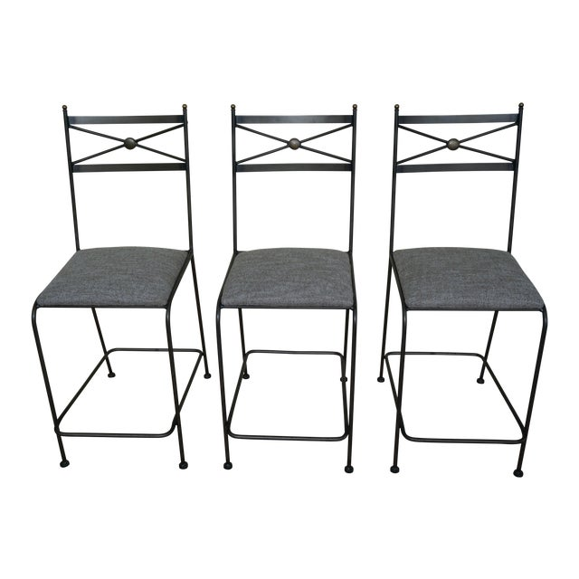 Pair of Luxury Hand Forged Counter Stools - Image 1 of 10