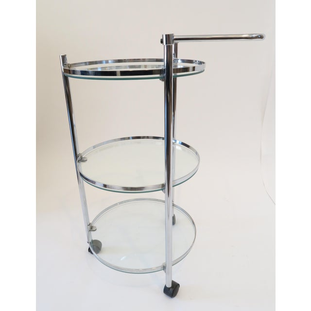 Glass & Chrome Bar Cart - Image 3 of 7
