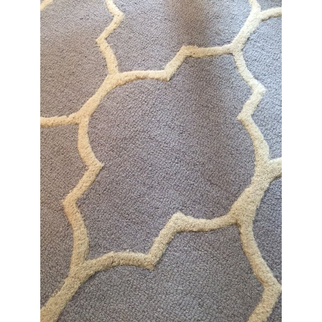 Carly Silver & Ivory Contemporary Rug - 6′ × 6′ - Image 2 of 3