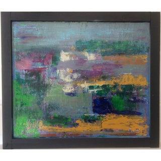 "Abstract ""Cape Cod Salt Marsh"" Painting"