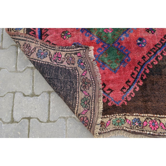 Hand Knotted Turkish Runner Rug - 4′6″ × 13′3″ - Image 10 of 11