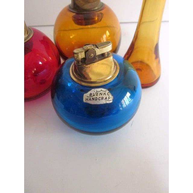 Blenko Glass Lighters - Set of 4 - Image 7 of 8