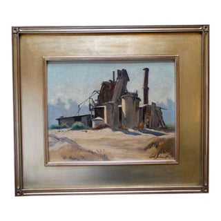 Industrial Scene Painting by Carl Schmidt