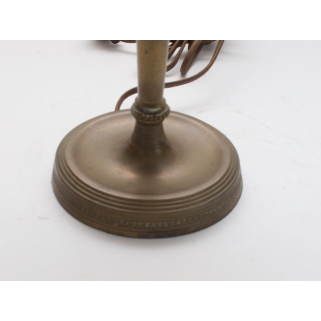 Antique Brass Table Lamp C. 1930s - Image 4 of 4