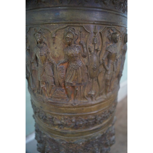 19th Century Brass Relief Neo Classical Pedestal - Image 4 of 10