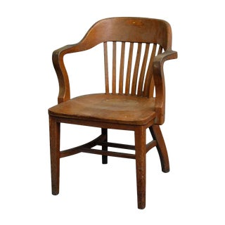 Oak Vintage Bankers Chair